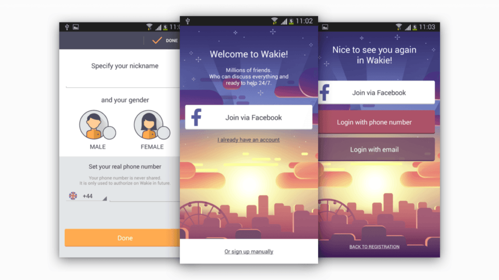 App of the week - Wakie - Onboardin Screen - Tapptitude